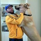 The Saturday Pet Blogger Hop: Big dog gives big hugs
