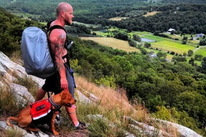Man and Pit Bull Hike 2,200 Mile Appalachian Trail