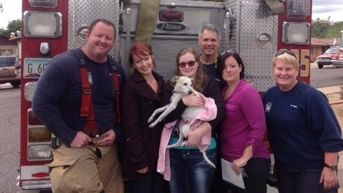 Phoenix Dog Saved from House Fire