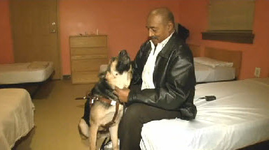 Luther Johnson and his hero dog Yates.
