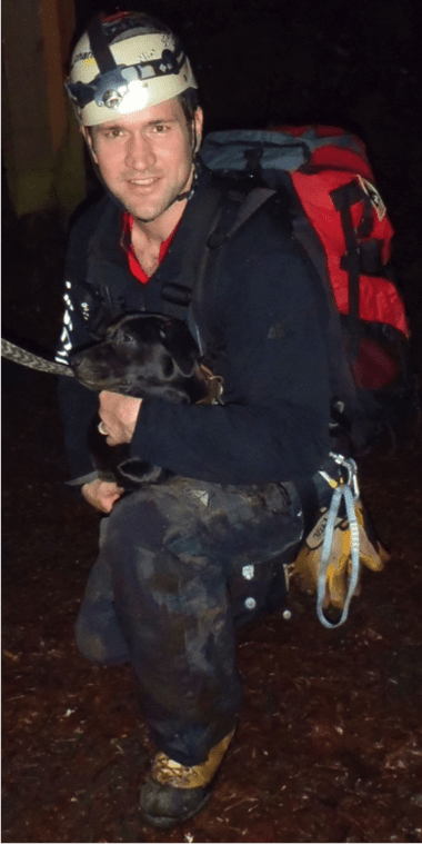 Dog Rescued from Cliff Fall by Volunteers