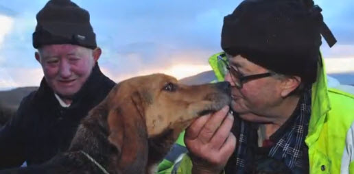 Coast Guards Rescue Dog Trapped for Three Days