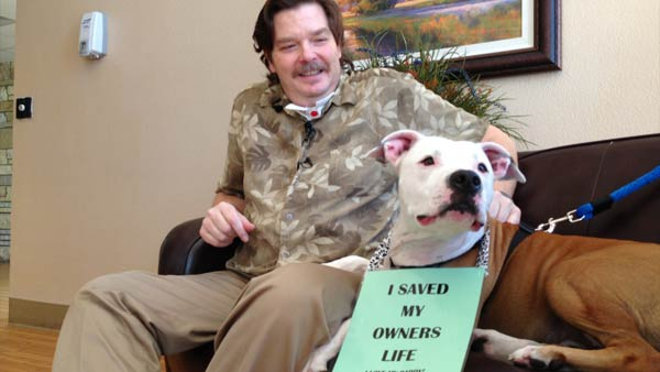 Man Reunited with Dog that Saved his Life