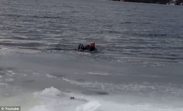 Norwegian Man Risks Own Life to Save His Dog from Frozen Lake