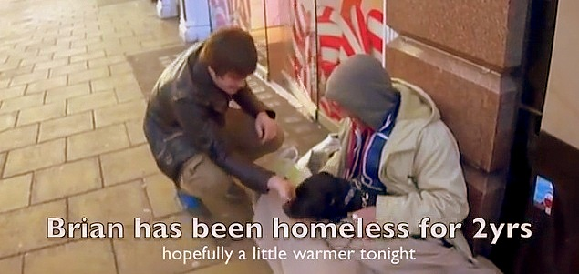Random Act of Kindness – Helping a Homeless Man and His Dog