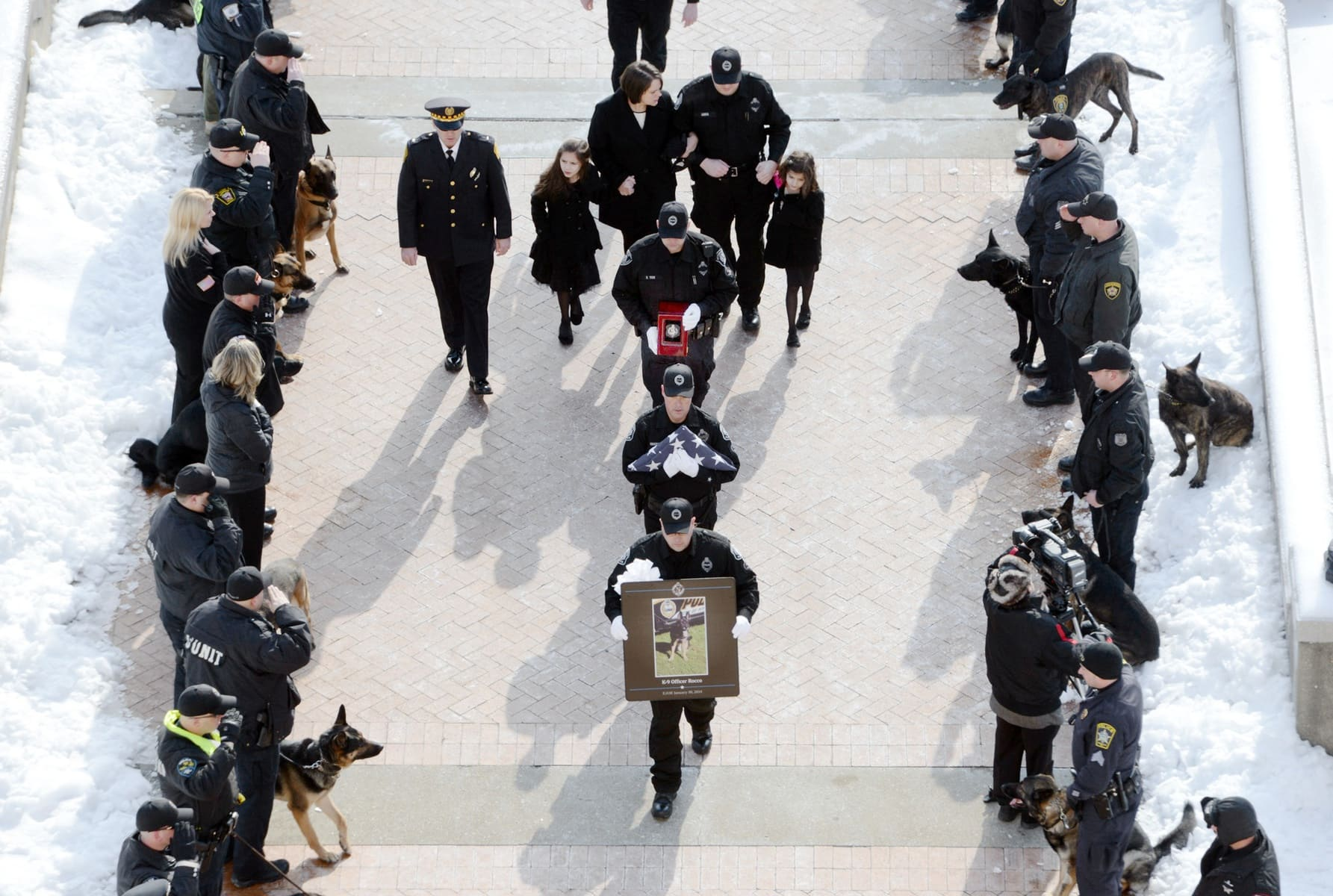 Over a Thousand People Gather in Pittsburgh to Honor Fallen K9 Rocco