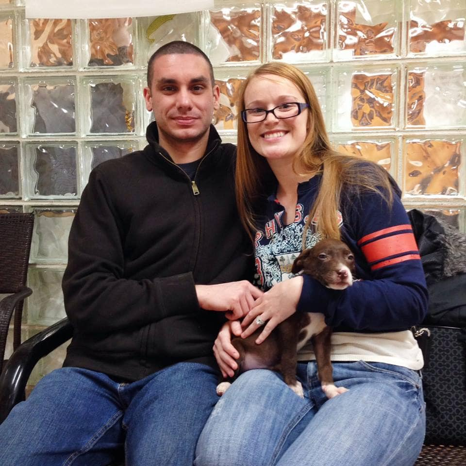 Police Officer Adopts Puppy He Helped Save