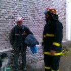 Firefighters Rescue Homeless Man and Dog from Torrential Rains