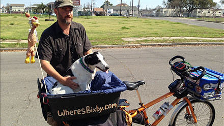Man and his Dog Biking Around the Country and Raising Awareness for Pet Adoptions