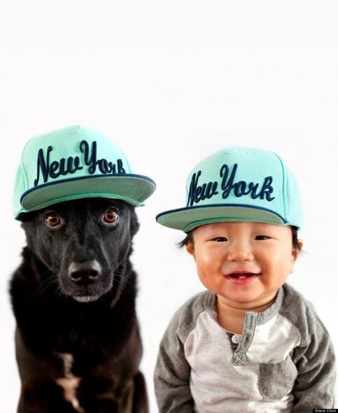 4.16.14 - Dog & Baby Twins4