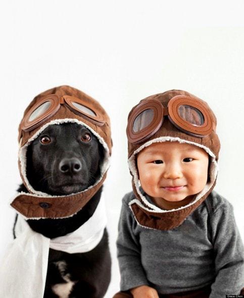 4.16.14 - Dog & Baby Twins5