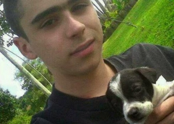 Miguel Angel Palacios died defending a small dog (not the one pictures) from an inebriated animal abuser.