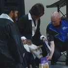Therapy Dog Honored at College Graduation