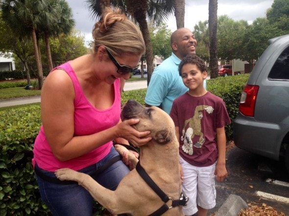 The Jeter family reunited with their dog Phantom.