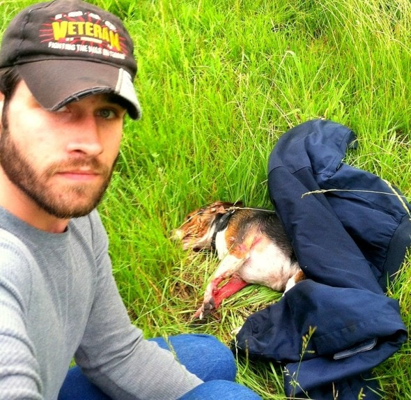 6.13.14 - Army Vet Rescues Beagle Hit by Car & Left to Die1
