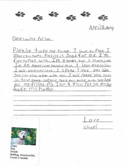 Elementary School Students get an Assignment that will Persuade you to Adopt Right Now