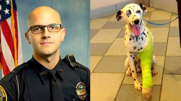 Georgia Officer Rescues & Finds a Home for Injured Dalmatian