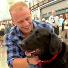 Marine Reunited with Retiring Service Dog