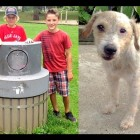 Kids Rescue Dog Locked in Garbage Can