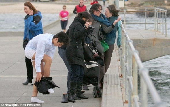 8.4.14 - Australian man Dives Off pier to Save Drowning dog During Grandmother3