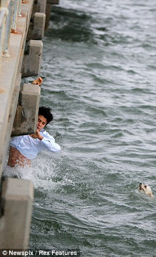 8.4.14 - Australian man Dives Off pier to Save Drowning dog During Grandmother5