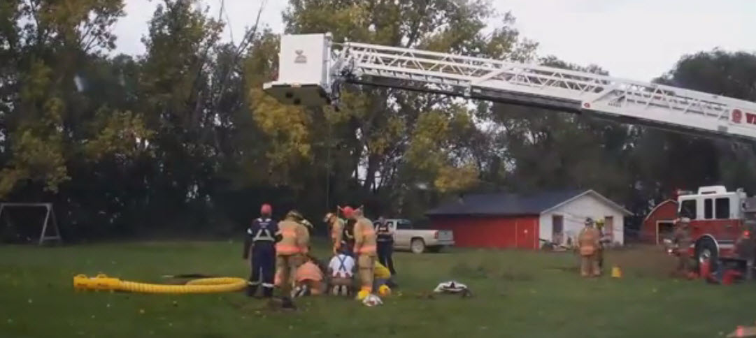 Dog Falls Down Old Well and Canadian Firefighters Rescue Him