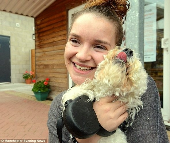 9.14.14 - Woman Reunited with Dog Believed Dead in Massive Arson Fire2