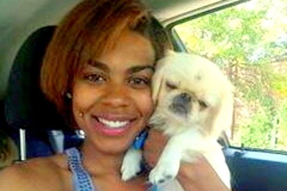 10.2.14 - Woman Saves Tiny Dog from Mentally Disturbed Man1