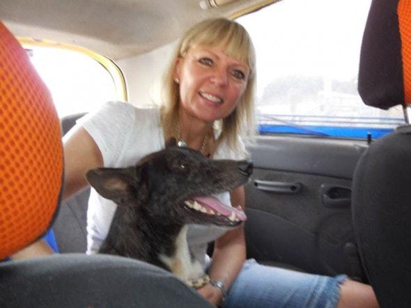 Vanda Hale and Nikko after leaving FRAD. Photo Credit: Vanda Hale