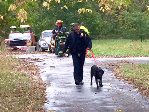 Suspicious Fire Almost Claims Dog's Life