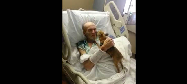 Hospital Allows Terminally Ill Patient's Dog to Come for a Visit