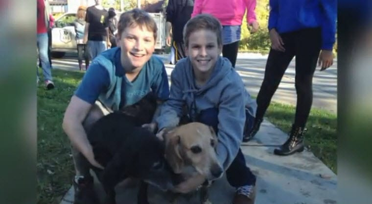 Eight Grade Students Save Dog Stuck in Mud