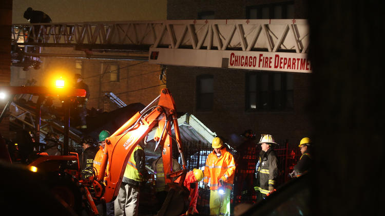 Dog and Two Women Rescued from Building after Explosion