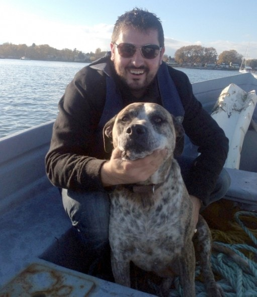Chris Rempel and his dog Charlee.