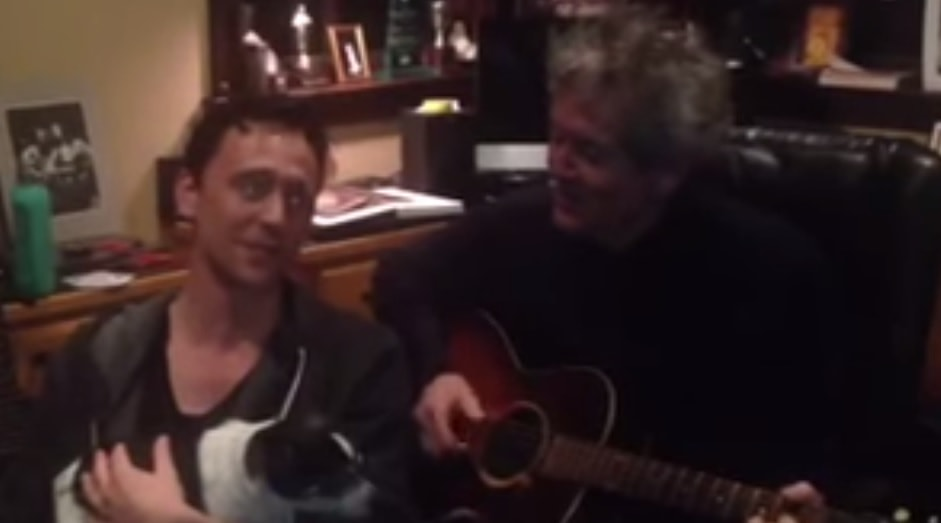 Tom Hiddleston and Dog Sing Christmas Songs Together