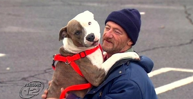Man Chooses Homelessness Rather Than Abandon Pit Bull
