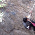 Animal Rescuers Hoist Puppy from 50 feet Hole