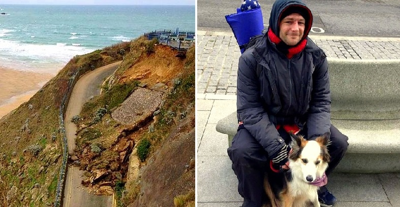 Perceptive Dog Saves Tourists from Cliff Collapse