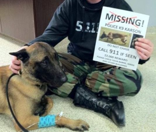Police Dog Found After 61 Days Missing