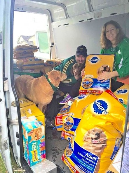 3.18.15 - Family Collects Over 2,500 Pounds of Pet Food at St. Paddy's Party1