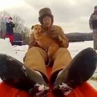 WWII Vet & Dog Go on Sledding Adventure