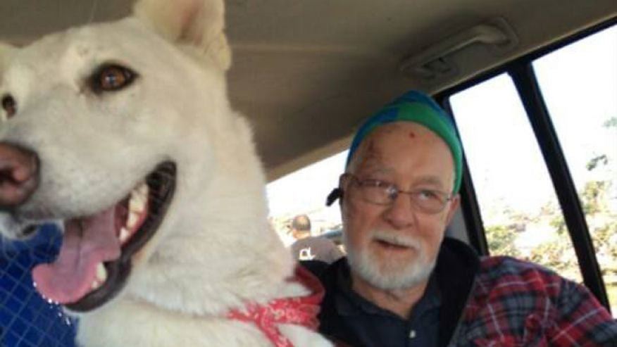 Man Reunited With Lost Dog After Storms Take Wife and Home