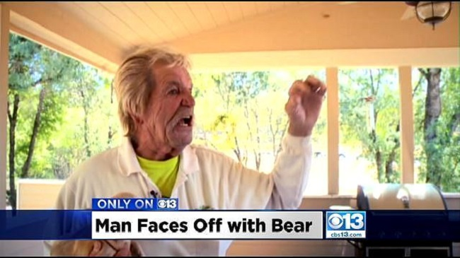 Senior Man Punches a Bear in the Face to Save Tiny Dog