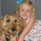 Service Dog Carries Oxygen Tanks for Little Girl