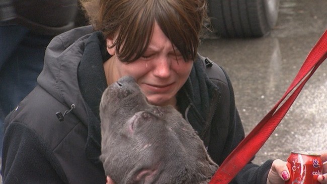 Dog Owner Reunites with Dog Thought Dead in Apartment Fire