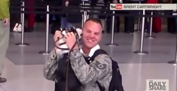 Soldier Receives the Best 'Welcome Home' Gift Ever
