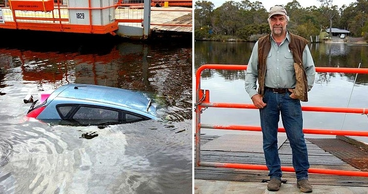 Man Heroically Rescues Dog & Owner from Sinking Car