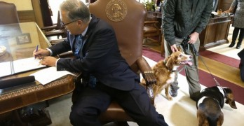UPDATE: Dog that Stood Guard Over Friend Given Award by Governor