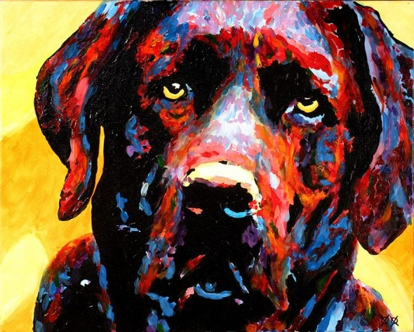 10.25.15 - Blind Man Paints the Most Beautiful Dog Portraits1