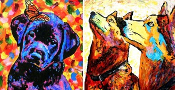 Blind Man Paints the Most Beautiful Dog Portraits